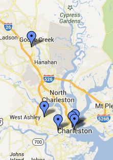 NWS Charleston Local Libraries Map