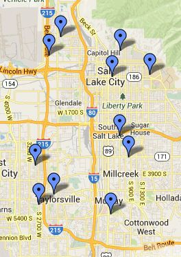 Salt Lake Local Libraries Map