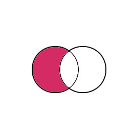 NOT Venn diagram illustration