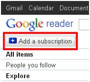Add a feed in Google.