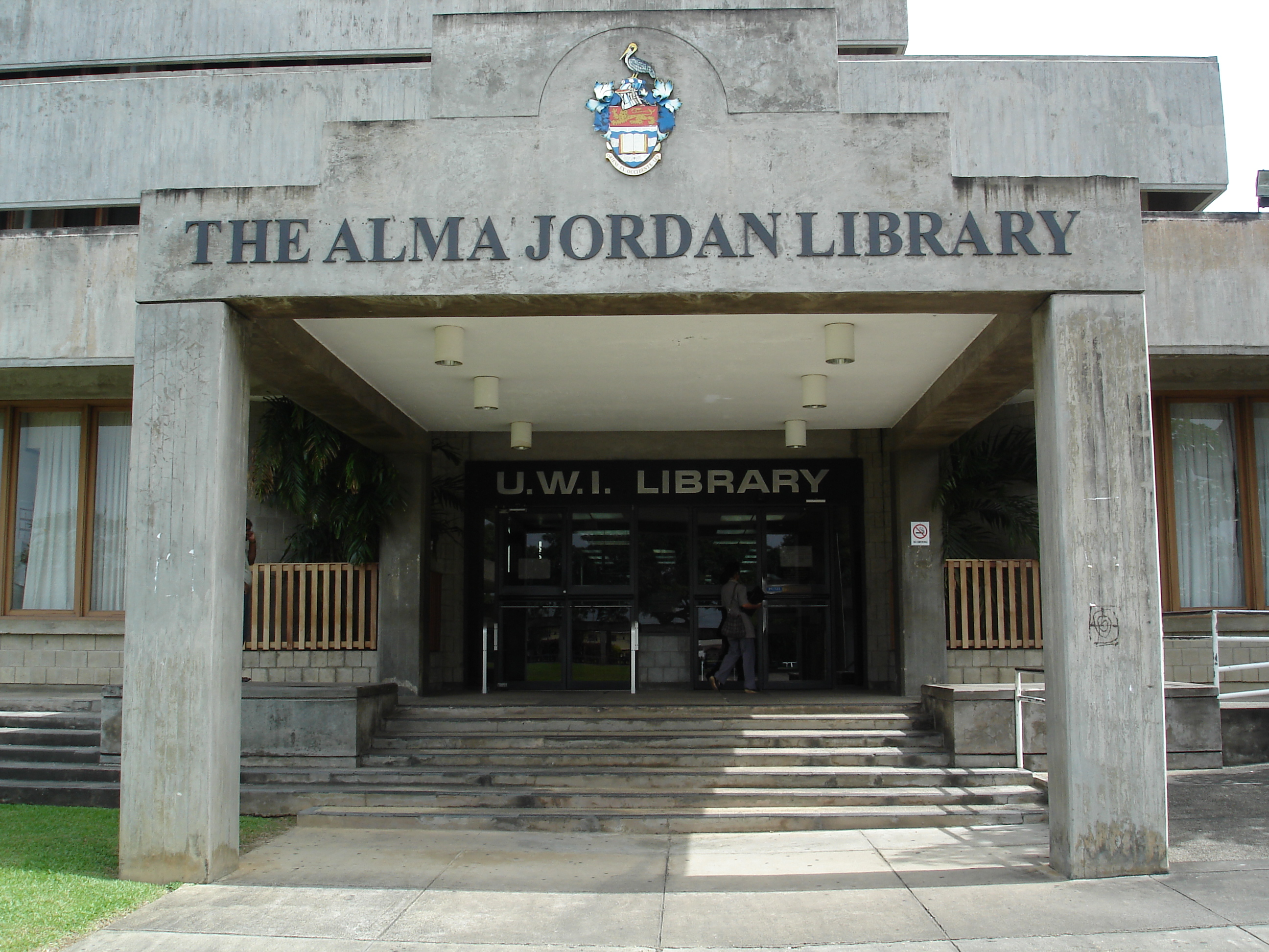 Alma Jordan Library - Main Entrance
