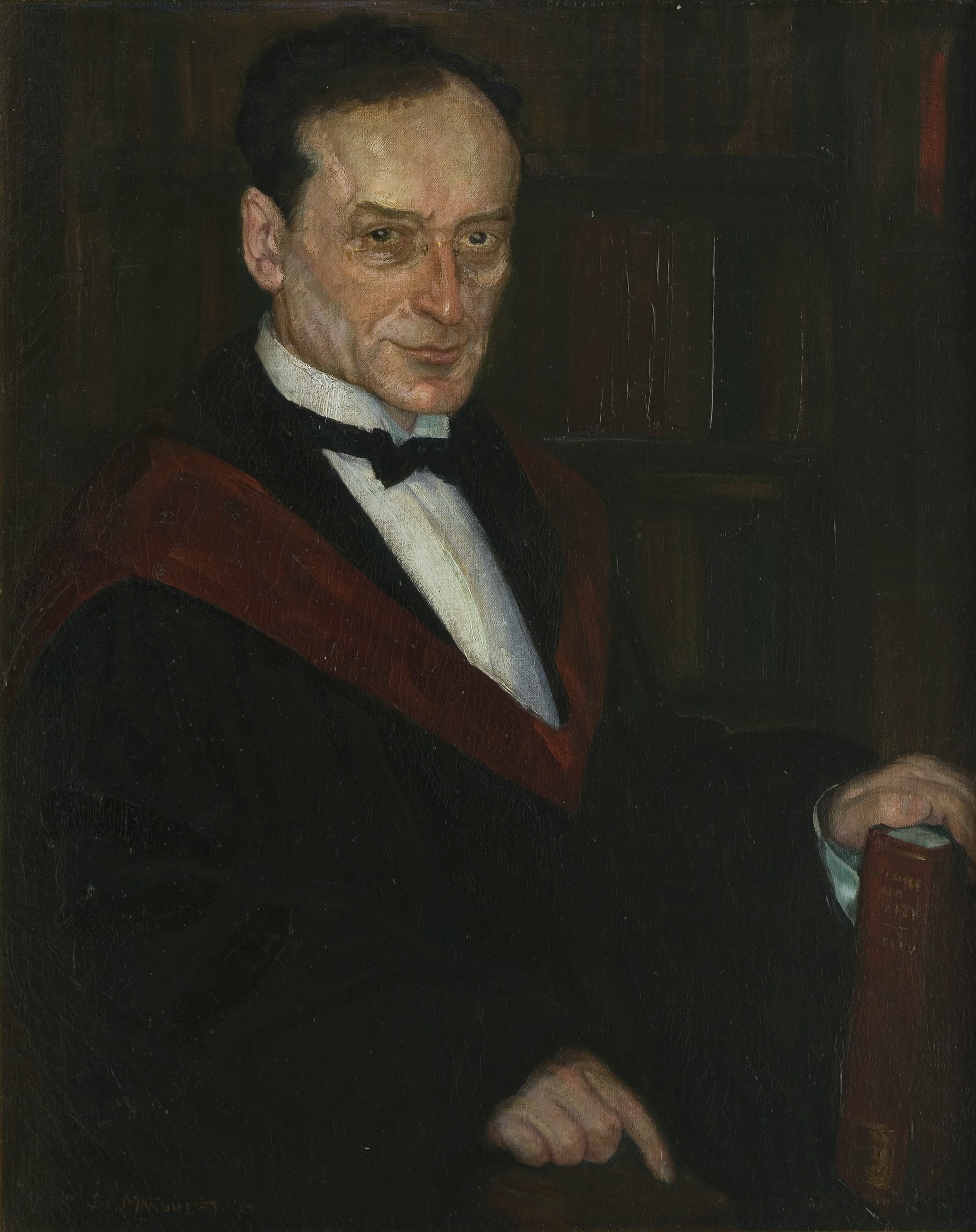Professor Morris Raphael Cohen, CCNY Class of 1900, Presented by Alumni and Friends in Commemoration of Twenty-Five Years of Service, Departments of Mathematics and Philosophy, Oct. 15, 1927, Painted by Joseph Margulies
