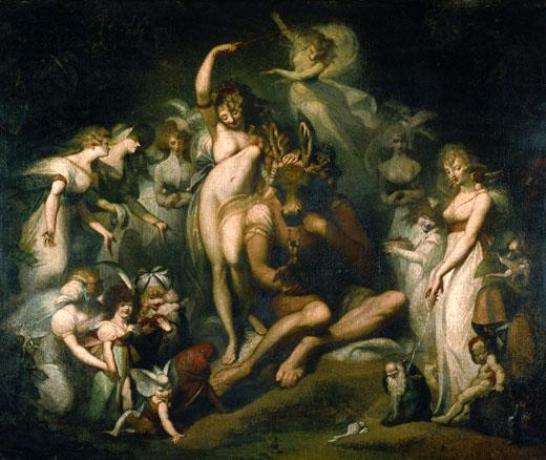 Henry Fuseli 1741-1825  Titania and Bottom circa 1790 Oil on canvas, 2172 x 2756 mm