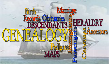word graphic for genealogy