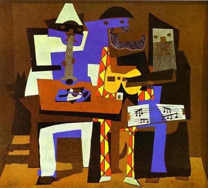 Picasso's painting of musicians