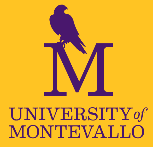 Montevallo logo with gold background