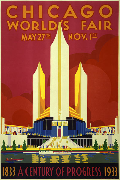 Image depicting the poster of the Chicago World's Fair from 1933