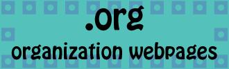 .org organization webpages