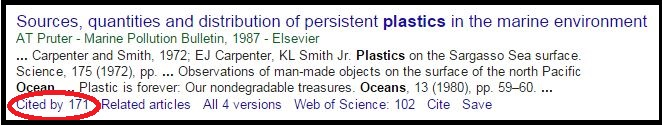 Cited by for an article in Google Scholar