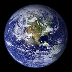 Picture of the Earth as seen from space