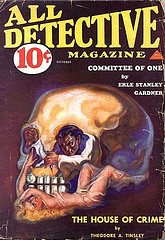 Cover of a pulp detective magazine
