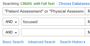focused assessment search
