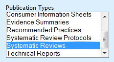 systematic review publication type