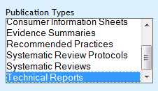 technical reports search option