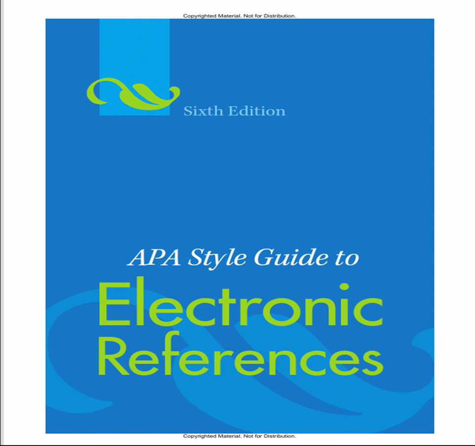 APA 6th cover