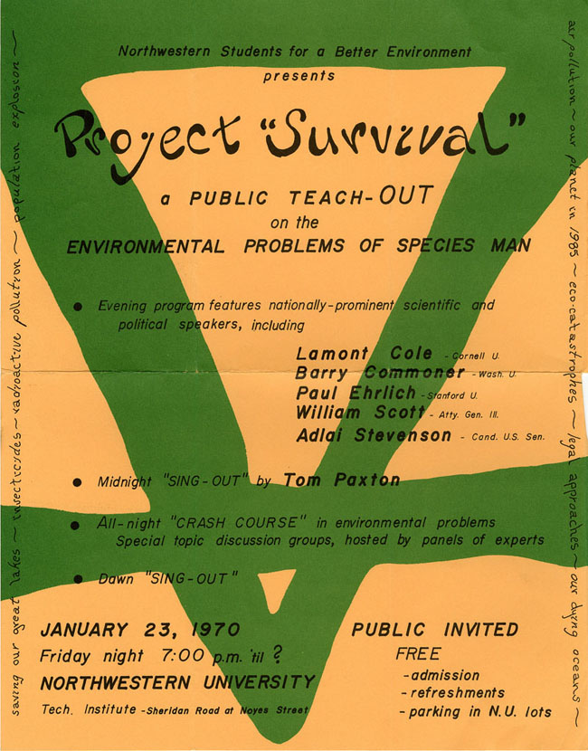 """Project Survival"" poster, 1969"