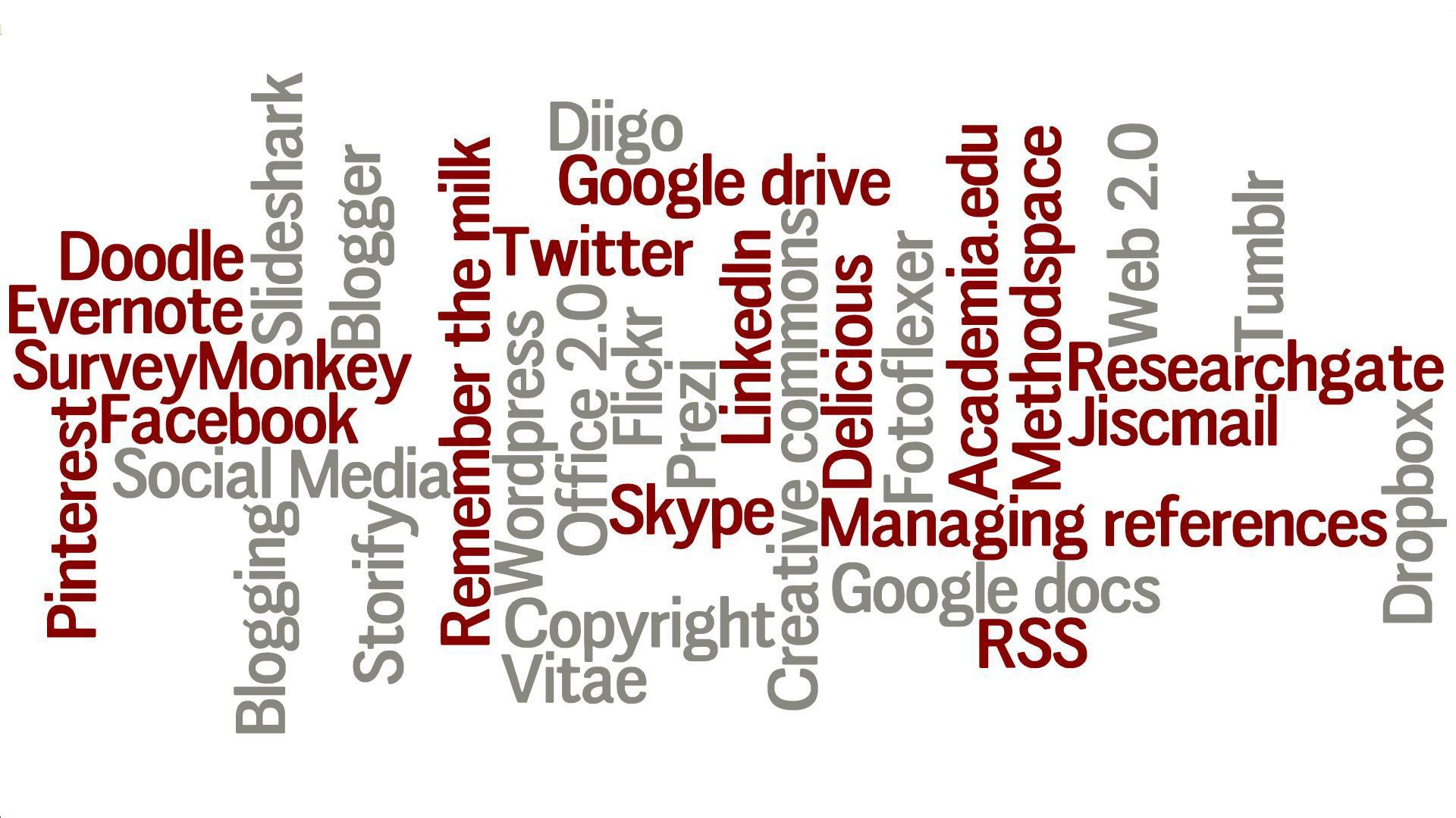 Social Media word cloud.