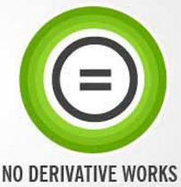 creative commons no derivatives