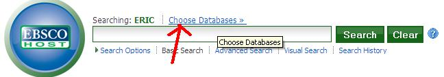 Choose databases