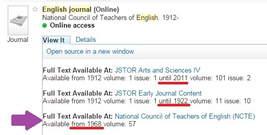 most recent English Journal issue