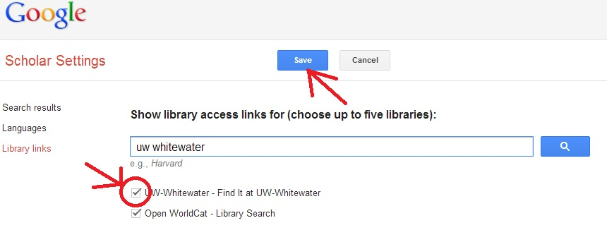 Google Scholar Library Links 2