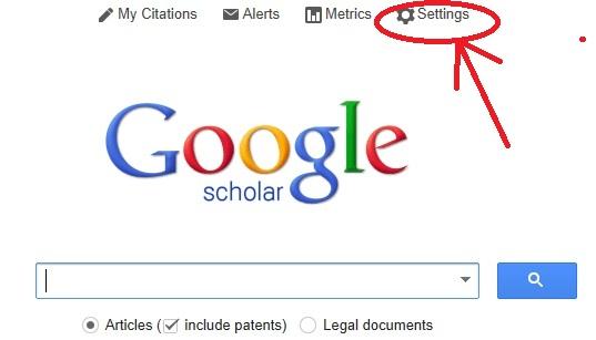 google scholar preferences