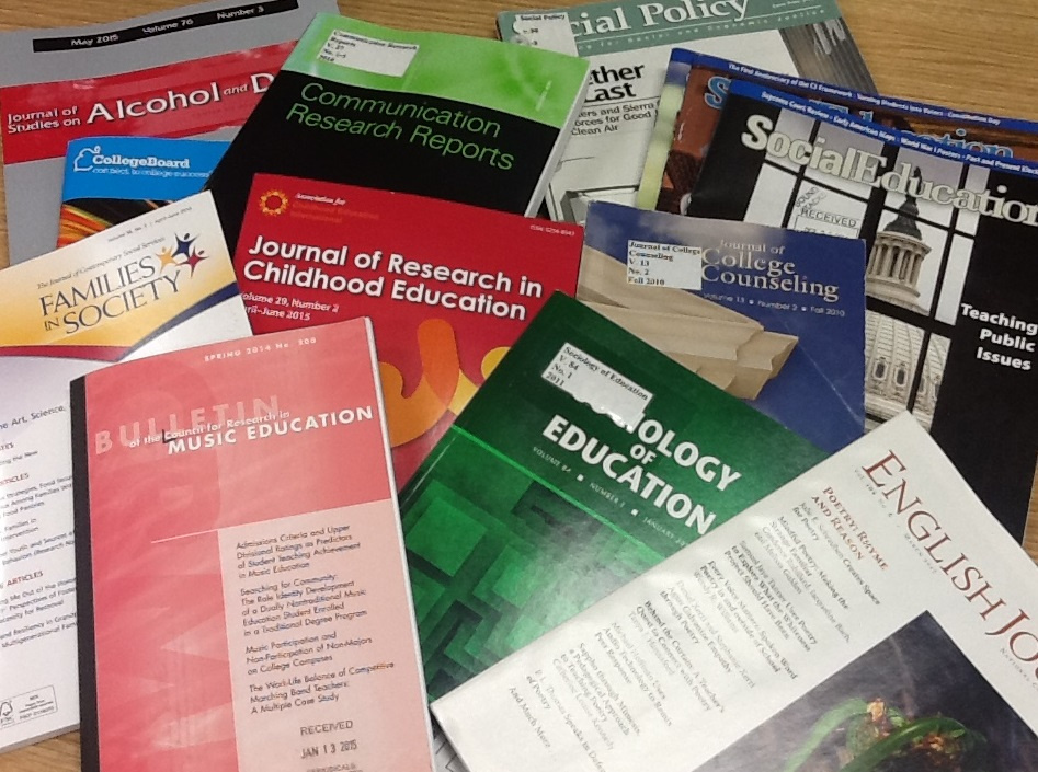 image of academic journals
