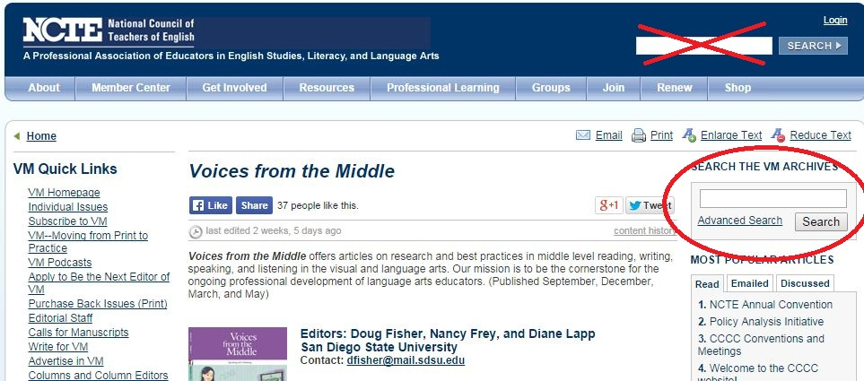 NCTE Journal Search