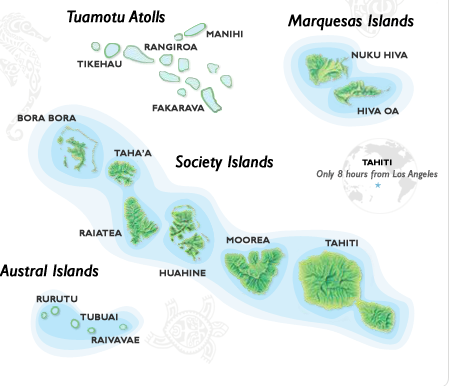 Tahiti and neighboring islands