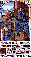 Image of illustrations from one of SCRC's Books of Hours.