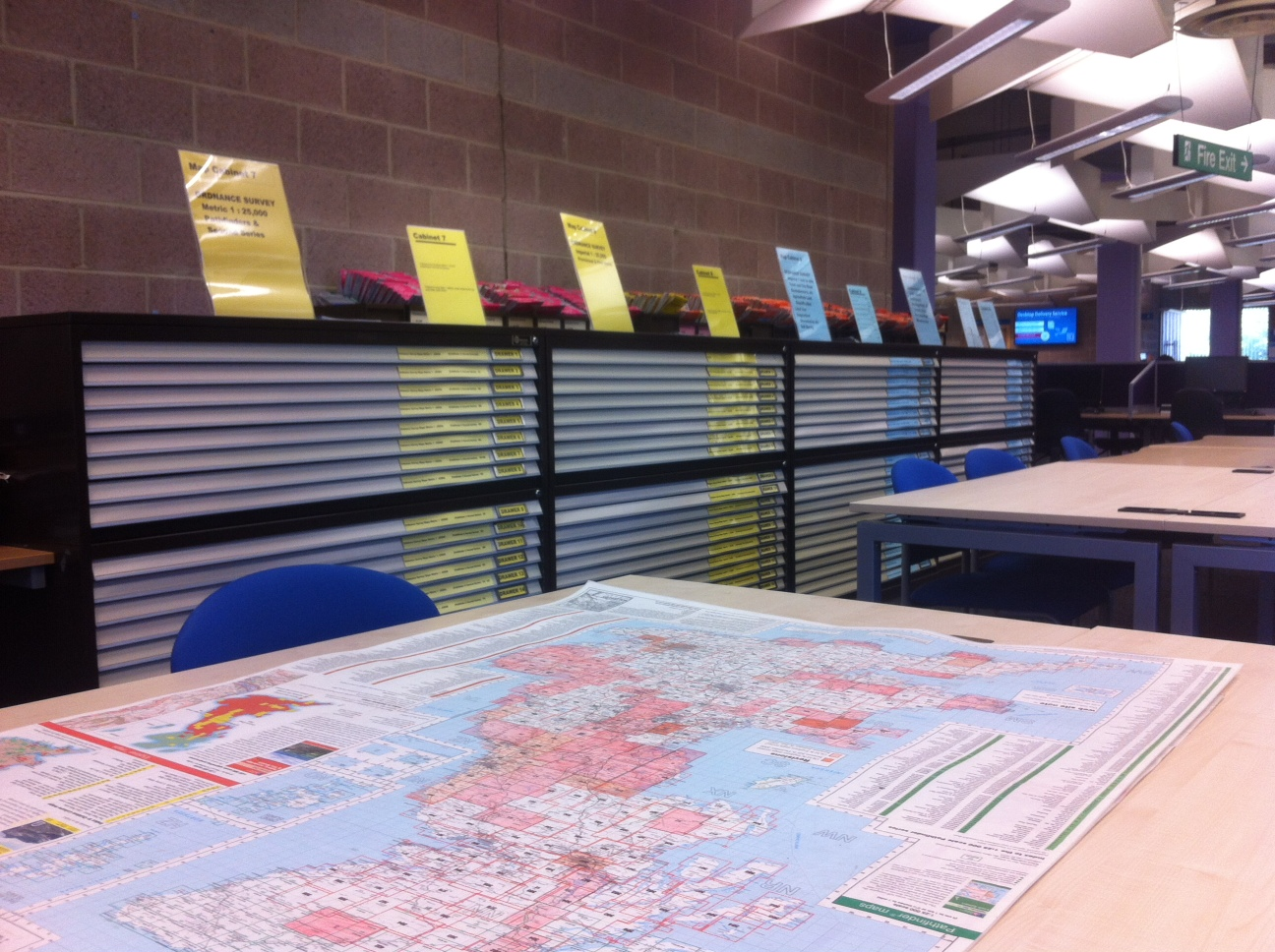 Map Cabinets in the Robinson Library