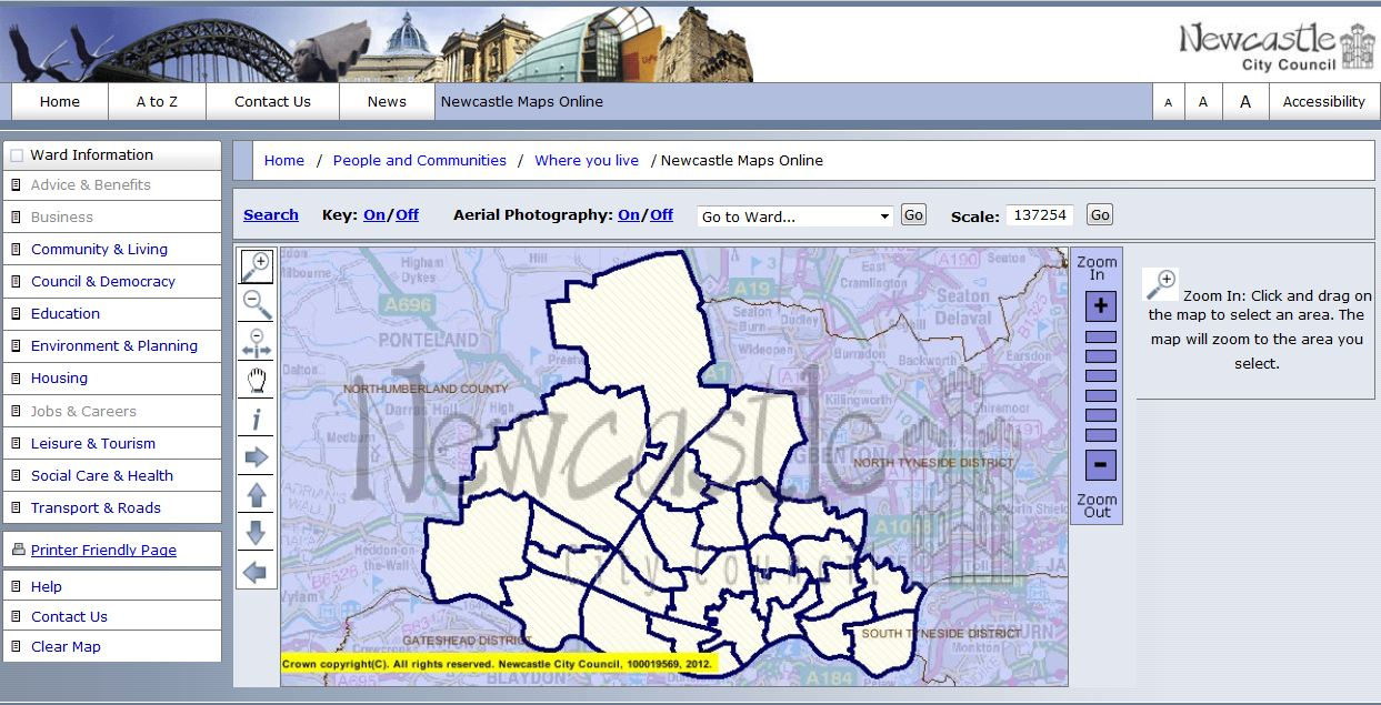 Newcastle Maps Online