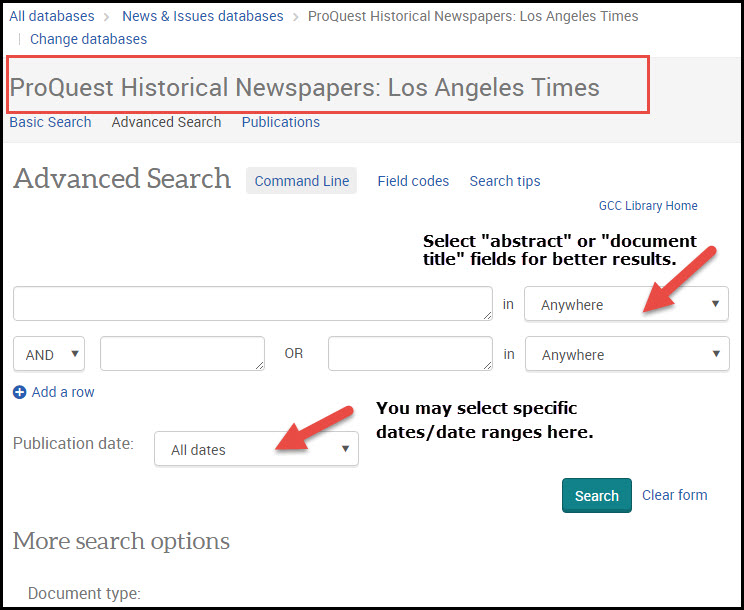 Los Angeles Historical Times Screenshot