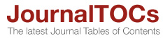 JournalITOCs The latest Journal Tables of Contents