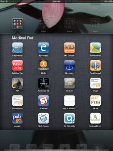 image of iPad screen