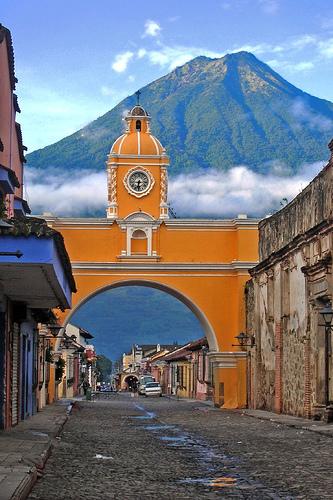 Volcano and Arch, Antigua, Guatemala