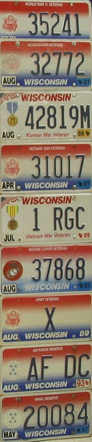 Wisconsin veterans license plates