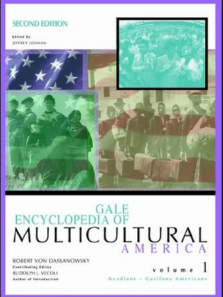 Image of the cover of Gale Encyclopedia of Multicultural America. Image links to the online encyclopedia.