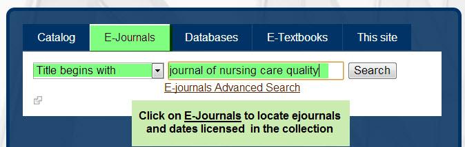 E-Journal search