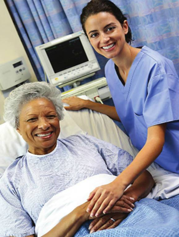 Image of nurse and patitent