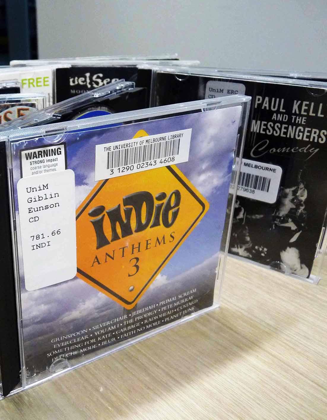 music on display at giblin eunson library