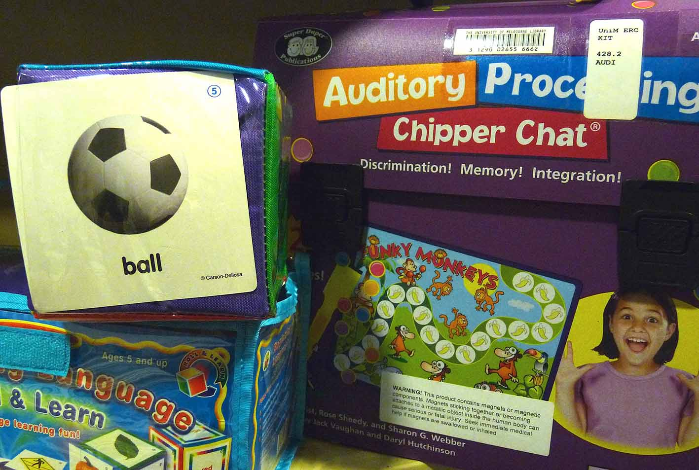 ice breaking games on display at giblin eunson library