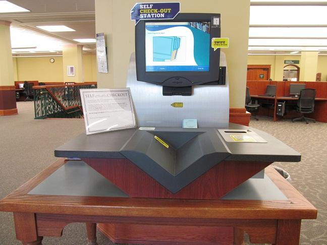 image of self check machine