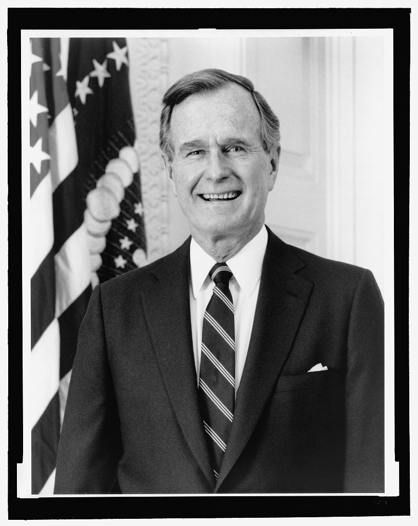 Valdez, D. (n.d.). George Bush, half-length portrait, facing front [Photograph found in Library of Congress Prints and Photographs Division, Washington, DC]. In Library of Congress. Retrieved from www.loc.gov/pictures/item/89715763/ (Originally photographed 1989)