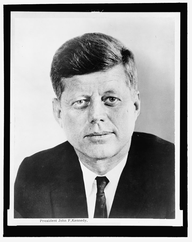 President John F. Kennedy, head-and-shoulders portrait, facing front [Photograph found in Library of Congress Prints and Photographs Division, Washington, DC]. (n.d.). In Library of Congress. Retrieved from http://www.loc.gov/pictures/item/96523447/ (Originally photographed 1961)