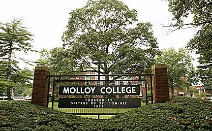 Molloy College Campus Welcome sign