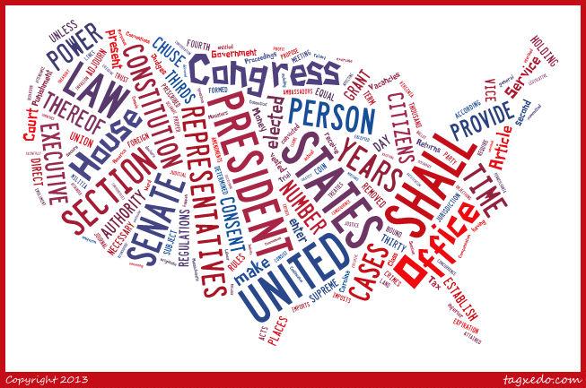 Constitution Tagxedo
