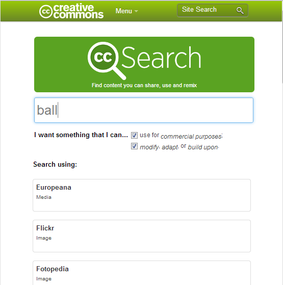 Creative Commons Search: Find content you can share, use, and remix