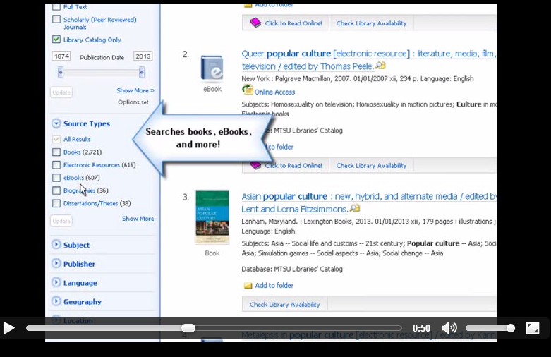 Finding Books in JEWL Search (video)
