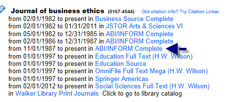 Jourhal of Business Ethics Report